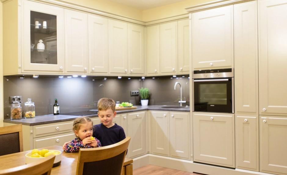 Mazi bērni un virtuves dizains