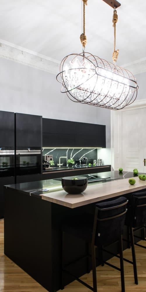 Tumša Arens virtuve ar salu 2