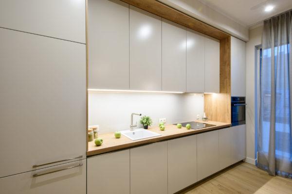 Gaiša Arens vienas rindas virtuve 2